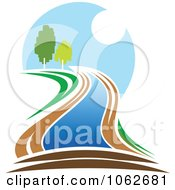 Clipart Nature And River Logo 4 Royalty Free Vector Illustration