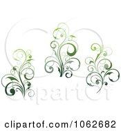 Clipart Green Flourish Digital Collage 1 Royalty Free Vector Clip Art Illustration