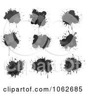 Clipart Black Splatters Digital Collage Royalty Free Vector Illustration by Vector Tradition SM