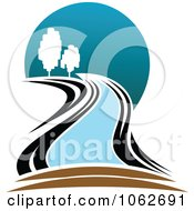Clipart Nature And River Logo 5 Royalty Free Vector Illustration