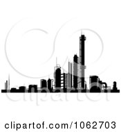 Clipart Factory In Black And White Royalty Free Vector Illustration