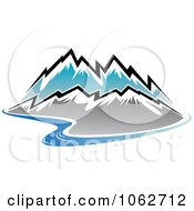 Clipart Mountain Logo 1 Royalty Free Vector Illustration by Vector Tradition SM #COLLC1062712-0169