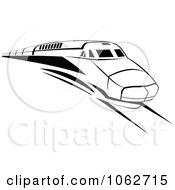 Clipart Subway Train In Black And White 2 Royalty Free Vector Illustration