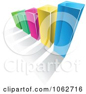 Clipart 3d Bar Graph Royalty Free Vector Illustration