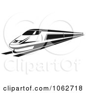 Clipart Subway Train In Black And White 3 Royalty Free Vector Illustration by Seamartini Graphics