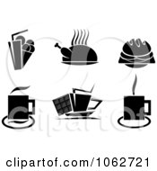 Clipart Black And White Food Digital Collage Royalty Free Vector Illustration by Vector Tradition SM