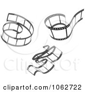 Clipart Black And White Film Strips Digital Collage 2 Royalty Free Vector Illustration