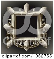 Clipart 3d Spiked Metal Frame With Chains Royalty Free Vector Illustration by AtStockIllustration