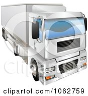 Clipart 3d Haulage Big Rig Truck Royalty Free Vector Illustration