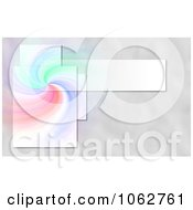 Clipart Colorful Swirl Background With Frames Royalty Free Illustration by oboy