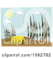 Clipart Tent In A Forest Royalty Free Vector Illustration by mheld