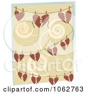 Clipart Hearts And Strings On Wires Royalty Free Vector Illustration by mheld