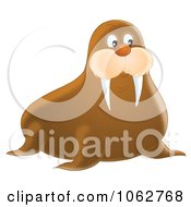 Clipart Walrus Royalty Free Illustration by Alex Bannykh