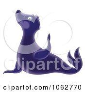 Clipart Cute Sea Lion Royalty Free Illustration