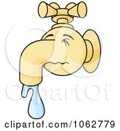 Clipart Runny Faucet Nose Royalty Free Vector Illustration by Any Vector #COLLC1062779-0165