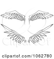 Clipart Outlined Wings Digital Collage Royalty Free Vector Illustration by Any Vector