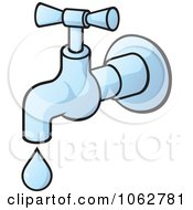 Clipart Faucet Dripping Royalty Free Vector Illustration