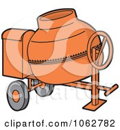 Clipart Concrete Mixer Royalty Free Vector Illustration