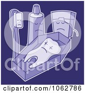 Clipart Tooth Funeral Royalty Free Vector Illustration