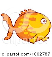 Clipart Two Toned Goldfish Royalty Free Vector Illustration by Any Vector