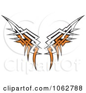 Clipart Tribal Wings Royalty Free Vector Illustration