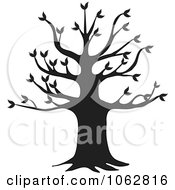 Clipart Black Tree Silhouette Royalty Free Vector Illustration
