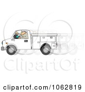 Clipart Utility Work Texting While Driving Royalty Free Illustration by djart