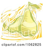 Clipart Woodcut Styled Pears Royalty Free Vector Illustration by xunantunich