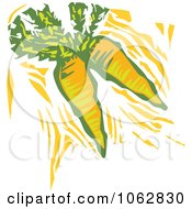 Clipart Woodcut Styled Carrots Royalty Free Vector Illustration by xunantunich