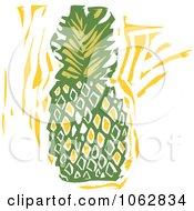 Woodcut Styled Pineapple by xunantunich