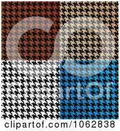 Clipart Colorful Houndstooth Backgrounds Digital Collage Royalty Free Illustration