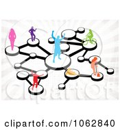 Clipart Social Networking People Connected 3 Royalty Free Illustration
