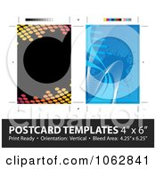 Clipart Postcard Layout Templates Royalty Free Illustration