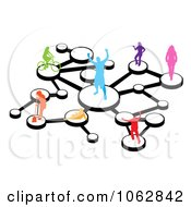 Clipart Social Networking People Connected 2 Royalty Free Illustration