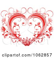 Clipart Floral Red Heart 15 Royalty Free Vector Illustration by Vector Tradition SM