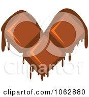 Clipart Melting Chocolate Heart Royalty Free Vector Illustration