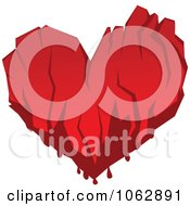 Clipart Bloody Heart Royalty Free Vector Illustration