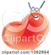 Clipart Heart Pendant Royalty Free Vector Illustration