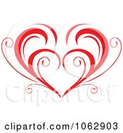 Clipart Floral Red Heart 5 Royalty Free Vector Illustration
