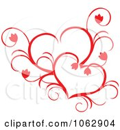 Clipart Floral Red Heart 12 Royalty Free Vector Illustration