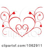Clipart Floral Red Heart 13 Royalty Free Vector Illustration