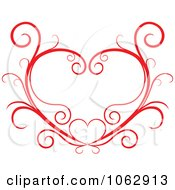 Clipart Floral Red Heart 11 Royalty Free Vector Illustration