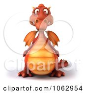 Clipart 3d Red Dragon Royalty Free CGI Illustration by Julos