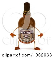 Clipart 3d Whisky Bottle Pouting Royalty Free CGI Illustration by Julos