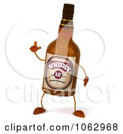 Clipart 3d Whisky Bottle With An Idea Royalty Free CGI Illustration by Julos