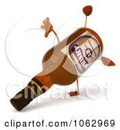 Clipart 3d Whisky Bottle Doing A Cartwheel Royalty Free CGI Illustration by Julos