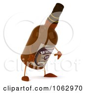 Clipart 3d Whisky Bottle Sulking Royalty Free CGI Illustration by Julos