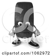 Clipart 3d Tire Character Pouting Royalty Free CGI Illustration