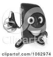 Clipart 3d Thumbs Up Tire Character Royalty Free CGI Illustration