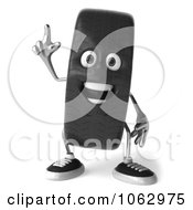 Clipart 3d Tire Character With An Idea Royalty Free CGI Illustration